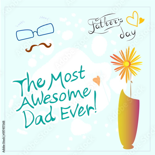 fathers day vector with background and text wording for greeting card and certificate father day sale