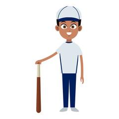 Baseball player cartoon vector illustration graphic design