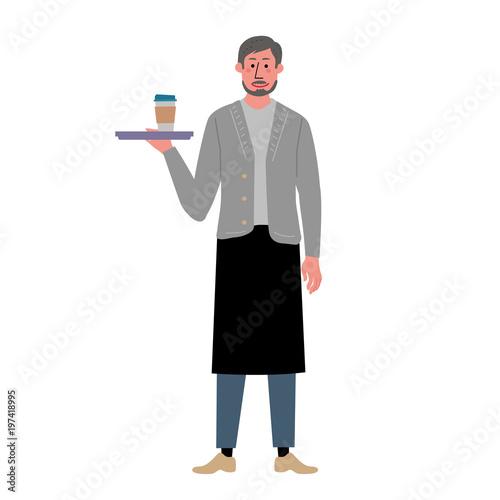 働く 中年男性 コーヒー イラスト Fotoliacom の ストック画像と