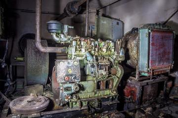 Diesel generator in bomb shelter