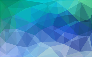 Light Blue, Green vector polygonal design pattern. Consist of gradient triangles in origami style.
