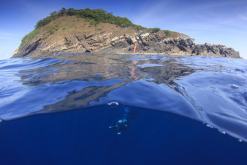 Scuba dive at Koh Bon island, Thailand
