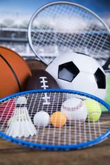 Wall Mural - Sport equipment and balls