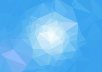 青のモザイク背景