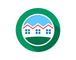 circle house home housing residence residential real estate image vector icon logo symbol
