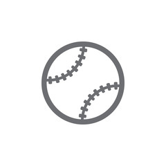 ball for baseball icon. Simple element illustration. ball for baseball symbol design template. Can be used for web and mobile