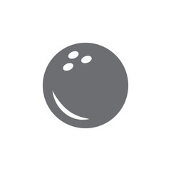 Bowling ball icon. Simple element illustration. Bowling ball symbol design template. Can be used for web and mobile