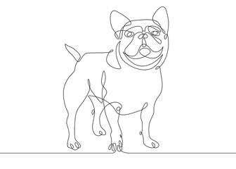 One line dog