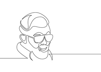 one line draw hipster
