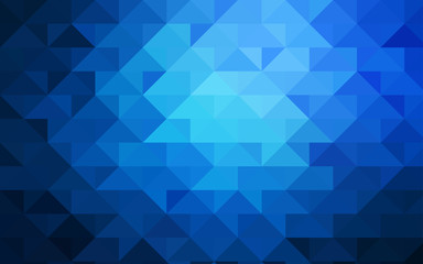 Dark BLUE vector blurry triangle pattern.