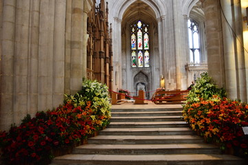 Winchester Cathedral with Flowers