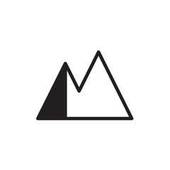 mountain icon Vector illustration, EPS10 .