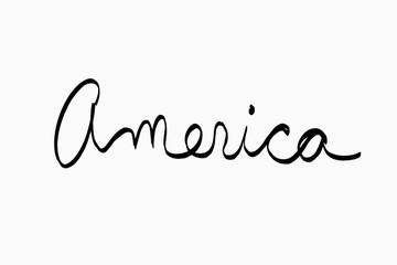 america written in cusive