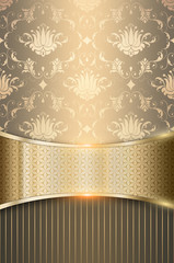 Decorative background with golden border.