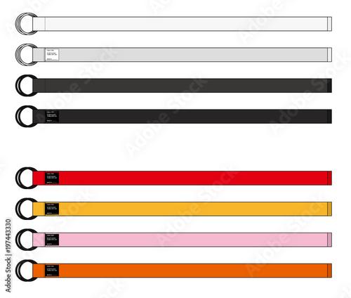 belt set vector design illustration template stock image and
