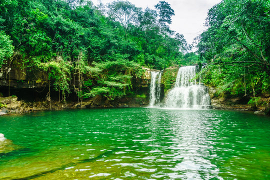 View on Khlong Chao Waterfall on Koh Kood island - Thailand