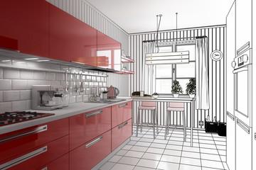 Meine rote Küche (Entwurf)
