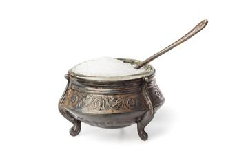 Vintage bowl with salt