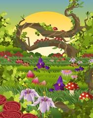 Keuken foto achterwand Magische wereld nature plants scene