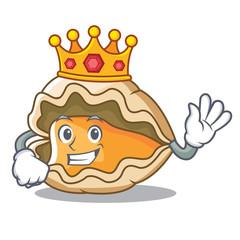 King oyster mascot cartoon style