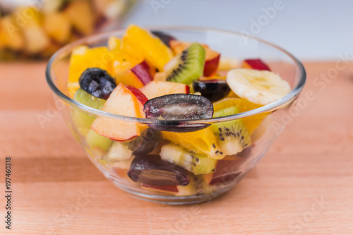 Beautiful Delicious Fresh Vegetarian Fruit Salad In A Glcup A Healthy Low Calorie