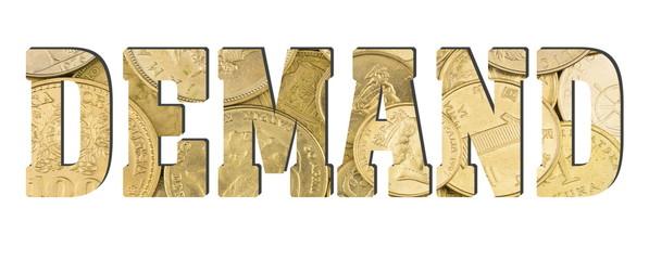 demand, golden coins texture