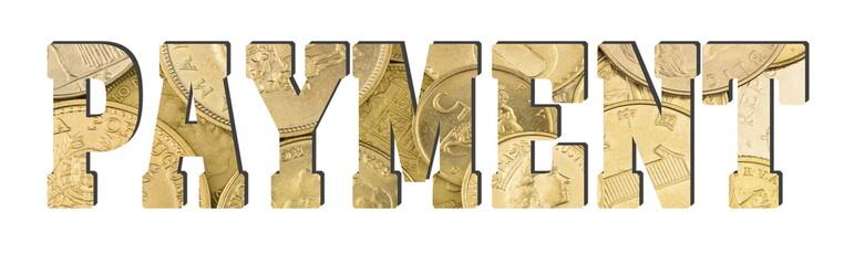 payment, golden coins texture