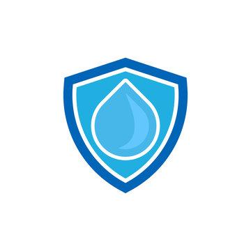 Water Shield Logo Icon Design