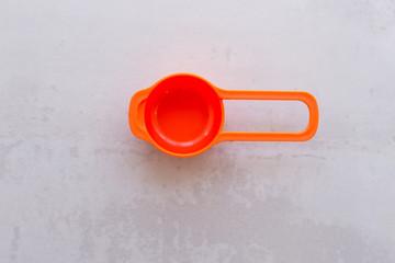 Plastic cups of a multi-colored dish