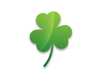 Shamrock leaf  vector icon