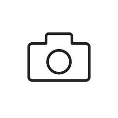 camera  outlined vector icon. Modern simple isolated sign. Pixel perfect vector  illustration for logo, website, mobile app and other designs