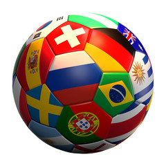 soccer football ball 3d rendering