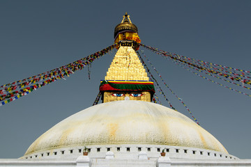 The Buddhist stupa in Kathmandu, Nepal