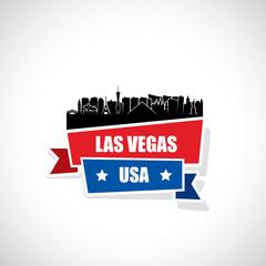 Las Vegas skyline ribbon banner - Nevada