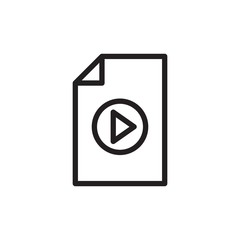 video file, multimedia outlined vector icon
