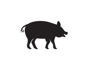 Pig Logo Template vector