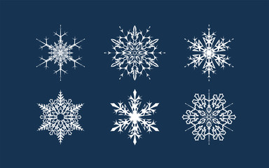 Vector Snowflake shapes