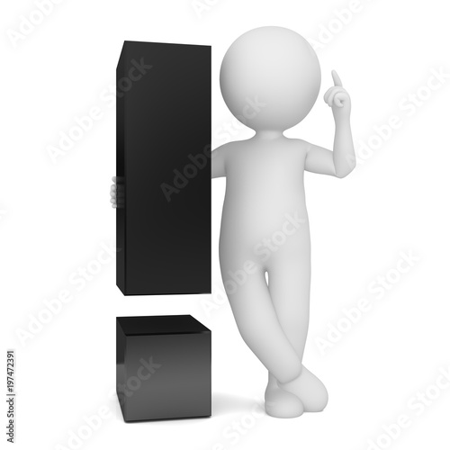 Instructor Man Person Chief Advisor Stick Figure 3d Pointing Up With