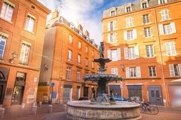 Fontaine à Toulouse, Occitanie en France