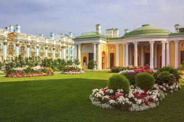 Tsarskoye Selo, State Museum near Saint-Petersburg, Russia. Sunny summer day.