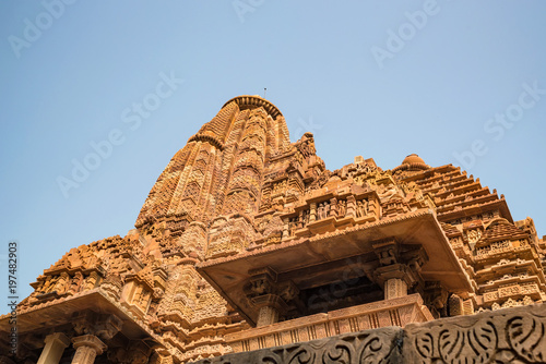 View of Lakshmana Temple in Khajuraho, India