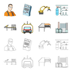 Automotive industry and other web icon in cartoon,outline style.New technologies icons in set collection.