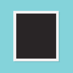 blank photo frame icon- vector illustration