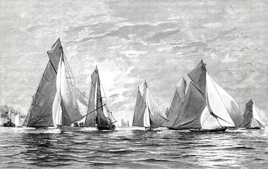 Von der Kieler Regattawoche: Nach dem Start der Segelschiffe am 23.6.1894