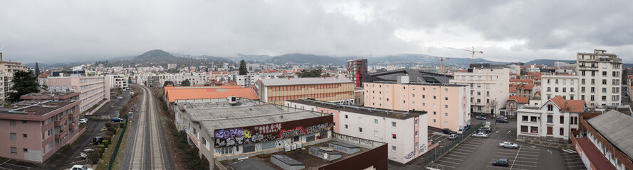 vue panoramique d'un quartier de Clermont Ferrand