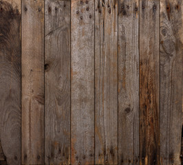 Wood texture background. Wooden planks background, weathered, with rusty nails, top view, sharp and highly detailed.
