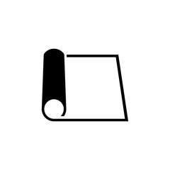 Rolled Sheet Paper. Flat Vector Icon. Simple black symbol on white background