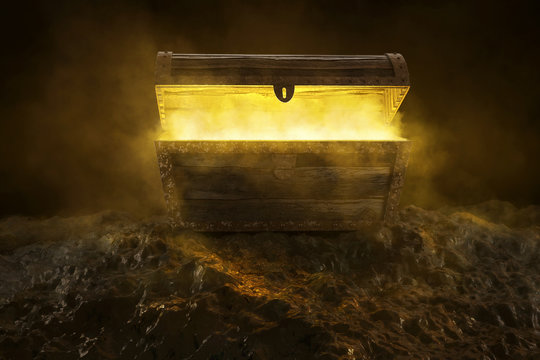 Mysteriöse Kiste mit gelbem Rauch