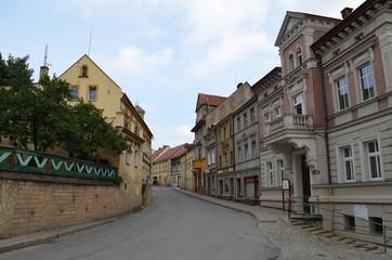Uliczka małego miasteczka w Polsce, Bardo, Europa