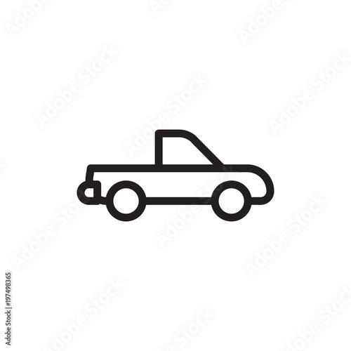 Pickup Track Delivery Truck Outlined Vector Icon Modern